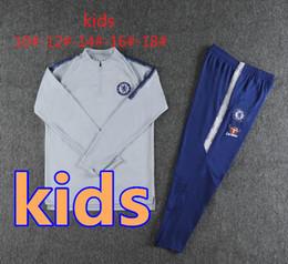 Chinese  18 19 HAZARD kids tracksuit soccer set Survetement 2018 2019 KANTE DIEGO COSTA FABREGAS DAVID LUIZ child boy football jacket training suit manufacturers