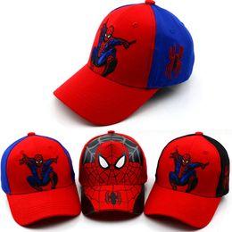 8eb19a6a797 2018 Unisex Child Outdoors Sport Big Brim Baseball Cap Kids Spider-Man  Printed Adjustable Snapback Baseball Hat F440-F790