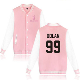 Men s white wool cardigan online shopping - Dolan Twin baseball jacket men s and women s streetwear hip hop wool sweatshirt casual long sleeved hoodie baseball shirt Dolan twin