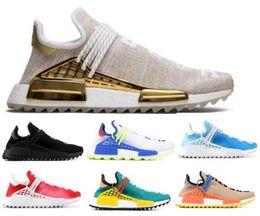 Best Air Human Race Running Shoes Pharrell Williams PW Hu Creme Core Purple Nerd Passion Holi Nobel Youth Trainers Men Women Sport Sneaker buy cheap 2014 UOBNChiD