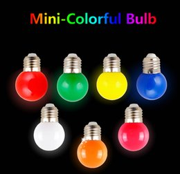 Globe Bulb B22 Australia - LED Light Bulb Colorful Led Bulb Ampoule E27 3W Energy Saving Light Colorful Golf Ball Light Globe Lamp Home Bar KTV Decor Lighting