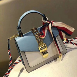 Tone Ties online shopping - luxury famous brand women designer handbags genuine leather crossbody messenger shoulder bags BOW TIE silk colorful strap two tone flap bag