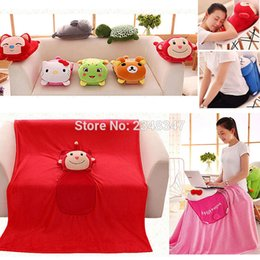 Replacement Batteries Lovely Fruit Plush Blanket Cute Cartoon Velvet Doll Pillow Cushion Nap Car Sofa Bolster Air Conditioning Pillow Blanket 2 In 1