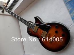 ElEctric guitar shipping box online shopping - new LP Custom Electric Guitar Honey burst musical instruments Foam box packaging no case