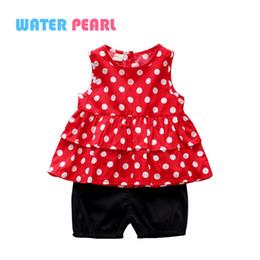$enCountryForm.capitalKeyWord NZ - Baby Clothing Set RED Dot Shirt Sleeveless Black Shorts 2pcs Suit Tracksuit for Girls Costume Roblox Hoody Baju anak perempuan