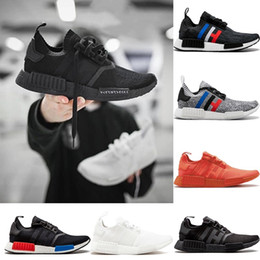Discount japan table - Top Mens Designer R1 Running shoes OG Japan Triple Black White Oreo Red Color Grey Women Primeknit Fashion Sports Sneake