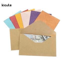 $enCountryForm.capitalKeyWord UK - 50Pcs Vintage Design Small Colored Blank Mini Paper Envelopes Wedding Party Invitation Envelope Greeting Cards Gift Envelope