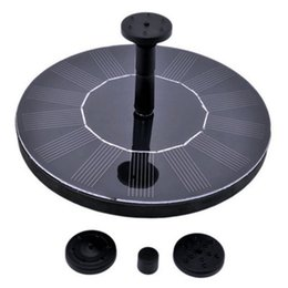 ponds water pump Canada - DHL solar Fountain Pump 1.4W Solar Panel Kit Water Pump Outdoor Watering Submersible Pump for Pond, Pool, Garden