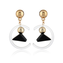 China 2018 New Japanese and Korean Fashion Earrings Three-Dimensional Geometric Pendant Earrings Cute Candy Color Girls Earrings suppliers