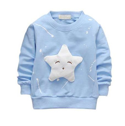 Wholesale Children Cartoon Long Sleeved T-shirt all-match Korean Star Girl Jacket Direct Foreign Trade Drop Shipping New
