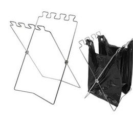 Foldable Portable Outdoor Garbage Bag Holder Stainless Steel Holder Hanging  For Kitchen Supplies Accessories Trash Bag Holder Rack KKA4025 Discount  Trash ...