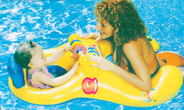 wholesale inflatable swim ring 2019 - mother child swimming ring multicolored thickening inflatable child swimming circle Parent child interaction swimming ri