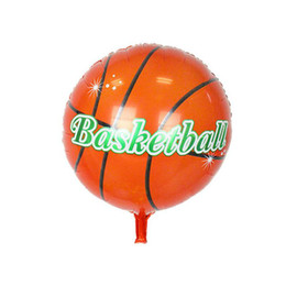 Inflatable Pe NZ - Round Sport Ball Shape Basketball Foil Balloon Inflatable aluminum helium Ballons Kids Birthday Party Festival Gifts