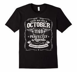 $enCountryForm.capitalKeyWord NZ - Plain T Shirts O-Neck Short Legends Were Born In October 1969 Shirt 48th Birthday Gift 100% Cotton Tee For Men