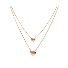 Girls stylish chain online shopping - Chic Fashion Stylish Love Heart Two Layered Pendant Necklace Fashion Jewelry Statement Jewelry for Girls Ladies Women