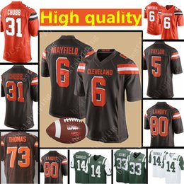 7048632c7 ... store mens cleveland browns jersey 6 baker mayfield 80 jarvis landry 31  nick chubb 5 tyrod