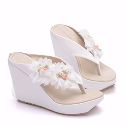 shoe purse matching 2019 - HOT Woman Sandals Shoes Bohemian Sandals Comfortable Sweet Wedge Heels Shoes for Girls With Matching Bags With Purse che