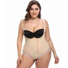 6a33afa8c790a Plus Size 5 6XL Shapewear Waist Slimming Shaper Corset Briefs Butt Lifter  Modeling Strap Body Shaper Underwear Women Bodysuit