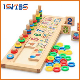 $enCountryForm.capitalKeyWord NZ - 2018 Hot Sale Children Wooden Montessori Materials Learning To Count Numbers Matching Early Education Teaching Math Toys