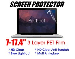 "Anti Scratch Screen NZ - Universal 7-24"" 3 layer Soft PET Film Screen Protector For PC Laptop Tablet Notebook iPad Matebook LCD Monitor HD-Clear Anti-scratch Matte"
