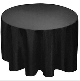 """$enCountryForm.capitalKeyWord NZ - Wholesale 90"""" Round Polyester Tablecloth Table cover Cloth White black yellow for wedding party free shipping"""