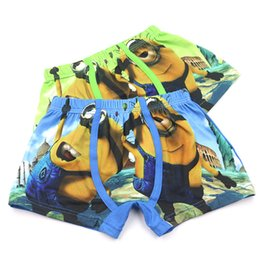 Wholesale minion printing for sale – custom 5pcs set D Print Minions Cartoon Cotton Boy Underwear Kids Panties Underpants Shorts for Nurseries Briefs