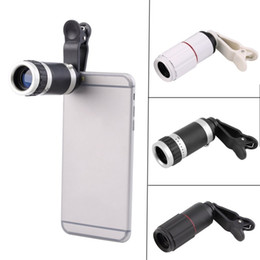 mobile phone zoom lens 2019 - Universal 8X Optical Zoom Lens for Smartphone Portable Mobile Phone Telephoto Camera Zoom Lens Clip for Huawei X 8 S8 S4