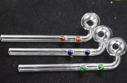 $enCountryForm.capitalKeyWord NZ - 2018 new Free double dotted Curved Oil Burners Pipes Glass Bongs with colorful Glass Water Pipe