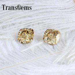 made organic 2019 - TransGems 8mm*8mm 2.5Carat Color Certified Man made Diamond Loose Moissanite Bead Test Positive As Real Diamond 1 piece