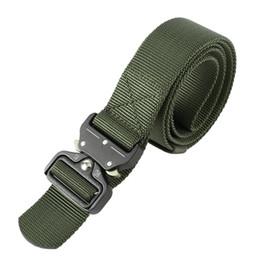 Band Belts Australia - Adjustable Nylon Waist Band Men's Tactical Belt Multifunction Training Buckle Belt Heavy Duty Webbing Belts 2018 New
