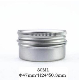 Aluminium Lip NZ - 30ml screw on lids Empty Aluminium Nail Art Cream Cosmetic Lip Gloss Lipstick Lip Balm Containers Bottles