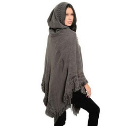Discount big tassel scarves - Big scarves winter scarf Sweater poncho women Bohemian Shawl Scarf Hooded blankets Cape shawl Ponchos and Capes Q6-25F