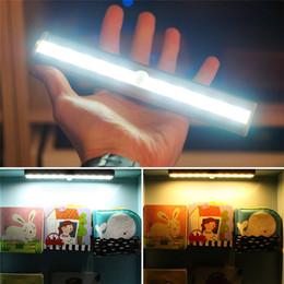 Motion detector ir online shopping - Motion Sensor Night Light Potable luminaire Closet Lights Battery Powered Wireless Cabinet IR Infrared Motion Detector Indoor Wall Lamp