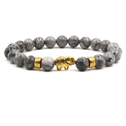 Chinese  Natural Stone Bead Buddha yoga Bracelets Women Men Jewelry Black Lava Gift Bracelets Elephant Bangles Pulseras dropshipping manufacturers