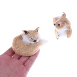 $enCountryForm.capitalKeyWord UK - Simulation brown fox toy furs squatting fox model home decoration Animals World with Static Action Figures Toys Gift for Kids