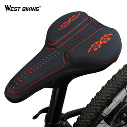 $enCountryForm.capitalKeyWord Canada - WEST BIKING 3D Silicon Gels Bike Saddle Cover Seat Cushion Bike Part Thick Breathable Pad Saddle Cycling Bicycle Covers