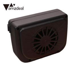 car cooling vents 2019 - amzdeal Cars Ventilator Solar Air-Vent Cooling Fan Full Automotive Mini Air Conditioning Ventilating Fan cheap car cooli