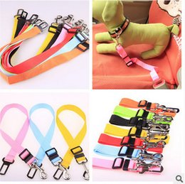 PuPPy car online shopping - 7 Color Adjustable Dog Car Safety Seat Belt Nylon Pets Puppy Seat Lead Leash Harness Vehicle Seatbelt AAA723