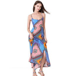 Swimwear deSignS for women online shopping - Beach Maxi Backless Cross Rope Long Dress for Women Beach Swimwear Braces Skirt American Design Ladies Summer Print Dresses