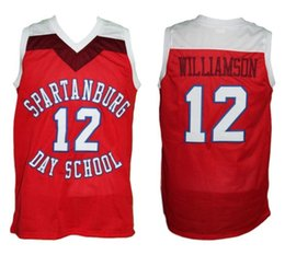1724534a5453 Zion Williamson  12 Spartanburg Day School Retro Classics Basketball Jersey  Mens Embroidery Stitched Custom any Number and name Jerseys