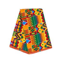 Опт Печать восковая ткань 100% хлопок Анкара ткань 6 ярдов Африканская восковая ткань hollandais воск быстрая доставка WB-84