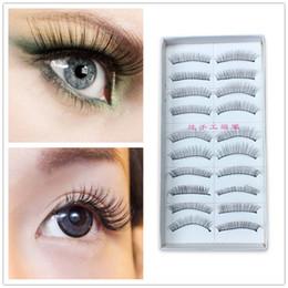 $enCountryForm.capitalKeyWord NZ - 10 Pairs Natural Long False Eyelashes Fake Black Eye Lashes Makeup Handmade