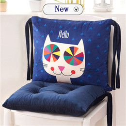 Green Office Chairs Australia - Cartoon Conjoined Chair Cushions For Kitchen Seat Cushion For Office Chair Colorful Sofa Pad Multicolor Back Seat Pillow Mat