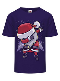 Discount cheap branded kids clothes - Chibi Santa Dab Purple Kids T-shirt Printed Summer Style Tees Male Harajuku Top Fitness Brand Clothing Hot Cheap Men