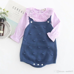 455bbbd917fa infant christmas sweaters 2019 - New Autumn Winter Infant Baby Knitted  Rompers Boys Girls Overalls Knitwear