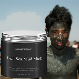 NourishiNg mask online shopping - Dead Sea Mud Mask Deep Cleaning Black Mask Hydrating Acne Blemish Clearing Moisturizer Nourishing Skin Care Pore Face Cleaner
