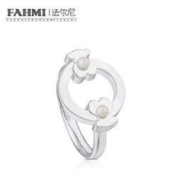 China FAHMI 100% 925 Sterling Silver Pearl Atmosphere Ring Female 812405500 Cute Casual Elegant Original Jewelry Gift suppliers