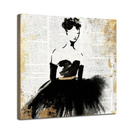highest quality digital prints UK - Modern Abstract Hand Painted & HD Print Wall Art Oil Painting Ballet Girl Home Deco On High Quality Canvas Multi Sizes g191