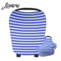 Scarf Shops Australia - Carseat Covers for Baby Infant Mom Nursing Breastfeeding Striped Cover Scarf Baby Car Seat Canopy Shopping Cart Stroller Blanket