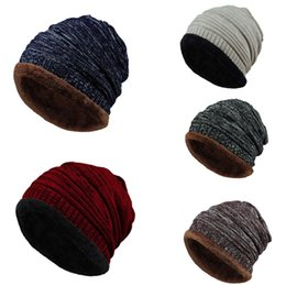 $enCountryForm.capitalKeyWord Australia - Fashion Winter Haps Caps Unisex Men Women Knit Cap Hedging Head Hat Beanie Cap Warm Outdoor Cotton Turban Casquette Gorras